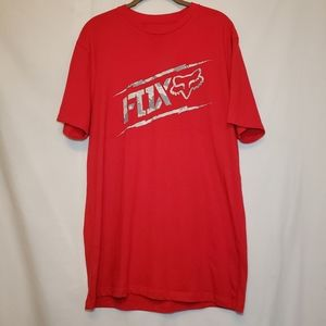 🦊Fox Head Red Tee With Gray Camouflage 🦊